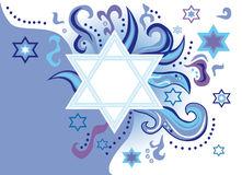Glad background to the Jewish holiday. Abstract background from the stars of David Royalty Free Stock Photography