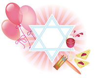 Glad background to the Purim Stock Images