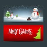 Glad bakgrund för julbanerdesign Arkivfoto