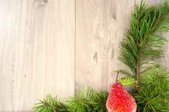 glad bakgrundsjul nytt år Trädprydnader Arkivfoto
