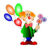 glad bal-clown Royaltyfri Fotografi