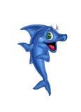 glad blå fisk royaltyfri illustrationer