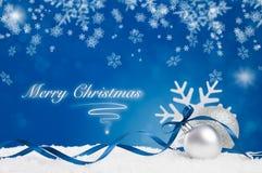 glad blå jul royaltyfria bilder