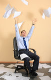 Glad businessman. A businessman is glad to the successful transaction Stock Photos
