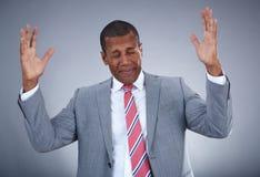 Glad businessman Stock Images