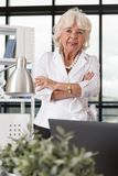 Glad elder businesswoman Royalty Free Stock Photo