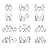 Glad familj med barn vektor illustrationer