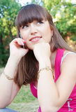 Glad girl royalty free stock photos