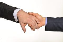 Glad hand vid handen Royaltyfri Fotografi