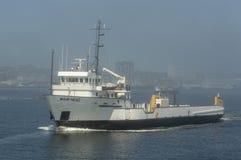 Glad Head lämna New Bedford för fraktskyttel hamn Royaltyfri Bild