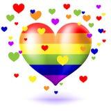 Glad hjärta vektor illustrationer