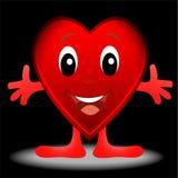Glad hjärta som är post- till dagen av helgonet Valentin Arkivfoto