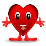 Glad hjärta som är post- till dagen av helgonet Valentin Royaltyfri Foto
