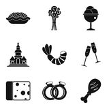 Glad icons set, simple style Stock Image
