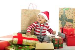 Glad jul, behandla som ett barn Arkivbild
