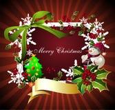 glad jul card3 Arkivbild