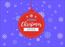 Glad jul erbjuder hälsningkortet och vektorbild för lyckligt nytt år royaltyfri illustrationer