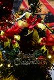 Glad jul för brosur och baner Royaltyfria Bilder