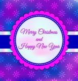 Glad jul för enkel design för vektorkortaffisch royaltyfri illustrationer