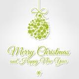Glad jul för grön tappning royaltyfri illustrationer