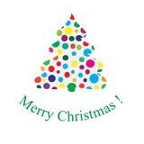 Glad jul för julgran och för text Royaltyfri Bild