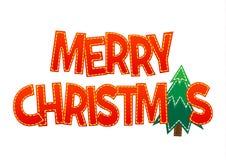 Glad jul för söt bokstäver på en bakgrund Arkivfoton