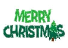 Glad jul för söt bokstäver på en bakgrund Royaltyfri Foto