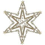 Glad jul för stjärna Arkivfoto