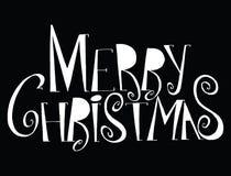Glad jul för vektorinskrift Räkningstitel Teckna förbi handen Royaltyfria Foton