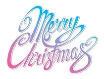 Glad jul för vektorinskrift Räkningstitel Teckna förbi handen Arkivfoton
