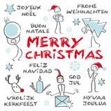 Glad jul, hälsningkort Royaltyfri Bild
