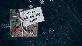 Glad jul HO-HO-HO Fotografering för Bildbyråer