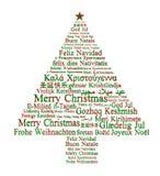 Glad jul i olika språk Royaltyfri Bild
