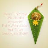 Glad jul i olika språk Royaltyfria Bilder