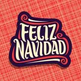 Glad jul i spanskt språk royaltyfri illustrationer