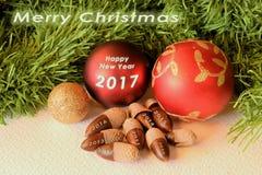 Glad jul i språk Arkivfoton