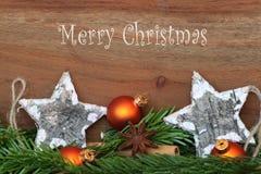 Glad jul - julgarnering Royaltyfri Bild