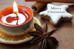 Glad jul - julgarnering Royaltyfria Foton