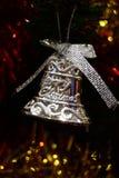 Glad jul Klocka för brosur och baner Royaltyfri Bild