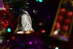 Glad jul Klocka för brosur och baner Royaltyfri Foto