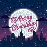 glad jul letters amerikansk för färgexplosionen för kortet 3d ferie för hälsningen för flaggan nationalformspheren Arkivbilder