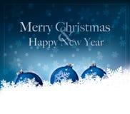 Glad jul & lyckligt nytt år Royaltyfri Fotografi