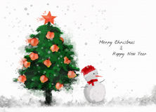 Glad jul & lyckligt nytt år royaltyfria bilder