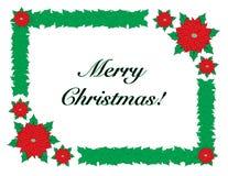 Glad jul med gränsramen stock illustrationer