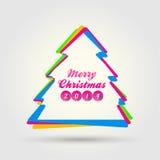 Glad jul med modern stil Arkivfoto