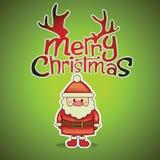 Glad jul med santa vektor illustrationer