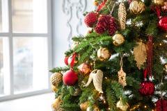 Glad jul och bakgrund för nytt år Arkivfoto