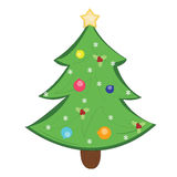 Glad jul och ett lyckligt nytt år och sörjer trädet royaltyfri illustrationer