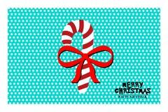 Glad jul och för hälsningkort för nytt år design, illustrationbakgrund Royaltyfri Bild