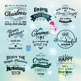 Glad jul och hälsningar för lyckligt nytt år 2015 Arkivfoton